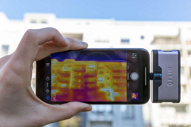 Caméra infrarouge pour inspection par thermographie