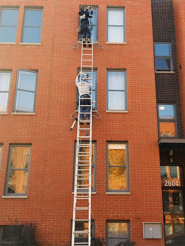 Calfeutrage en hauteur d'immeuble et logement